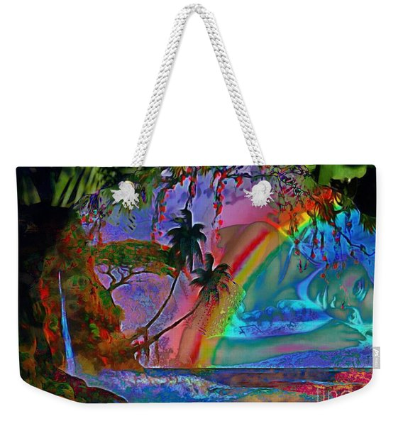 Rainboow Drenched In Layers Weekender Tote Bag