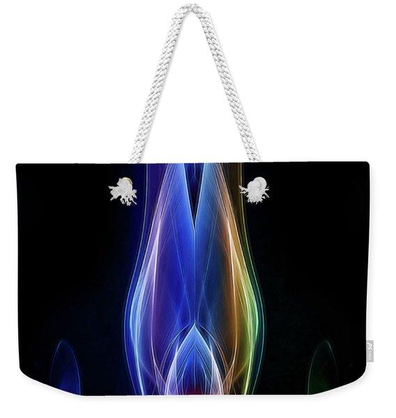 Rainbow Alien Weekender Tote Bag