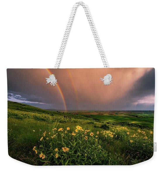 Rainbow At Steptoe Butte Weekender Tote Bag