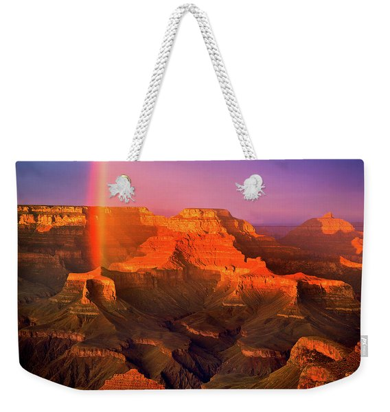 Rainbow At The Grand Canyon Weekender Tote Bag