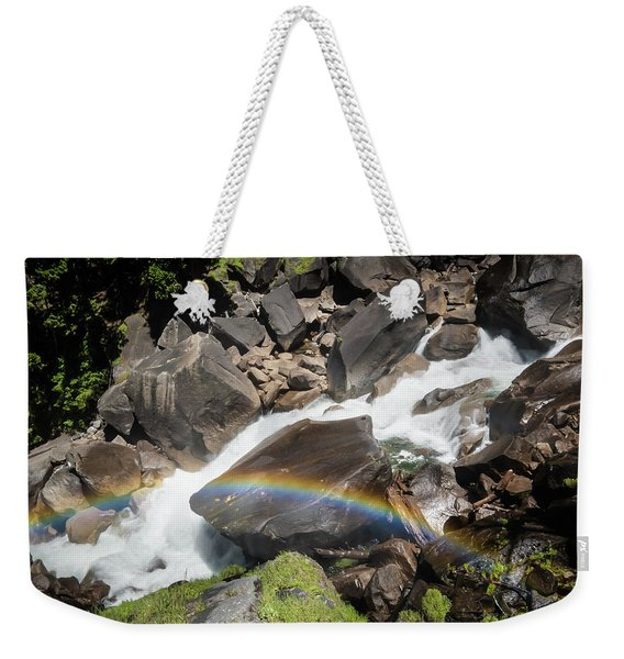 Rainbow At Vernal Falls- Weekender Tote Bag