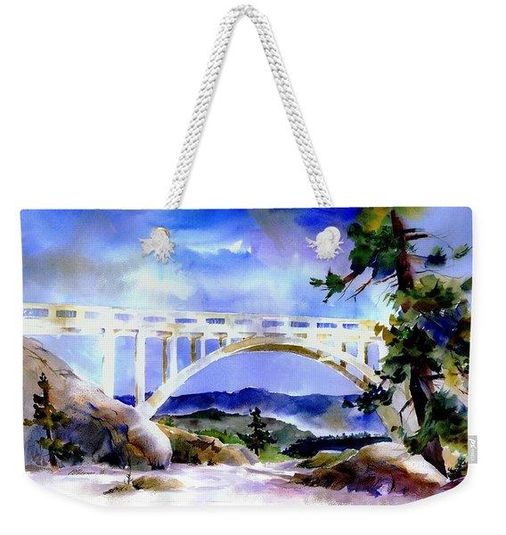 Rainbow Bridge Above Donnerlk#2 Weekender Tote Bag