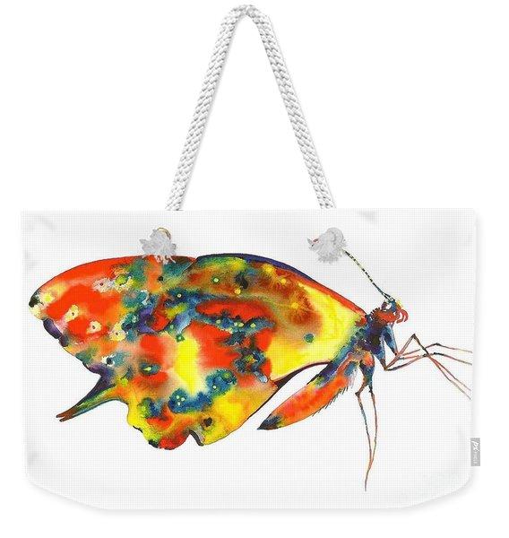 Rainbow Butterfly Weekender Tote Bag