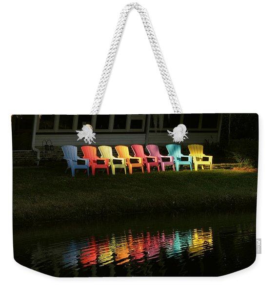 Rainbow Chairs  Weekender Tote Bag