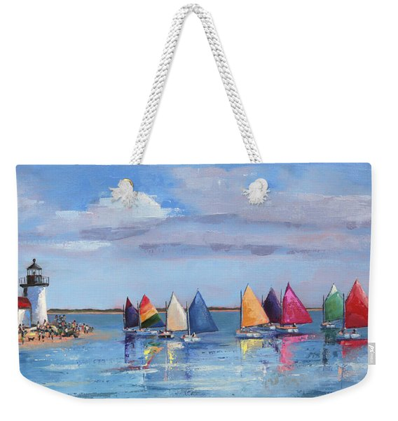 Rainbow Fleet Parade At Brant Point Weekender Tote Bag