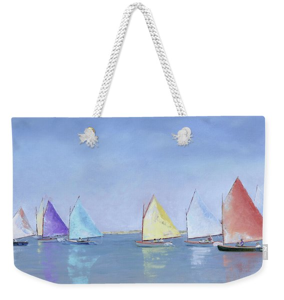 Rainbow Fleet Weekender Tote Bag