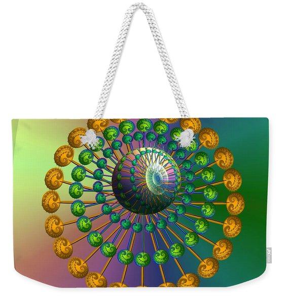 Rainbow Fractal Weekender Tote Bag