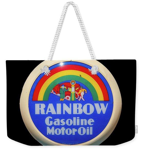 Rainbow Gasoline Weekender Tote Bag