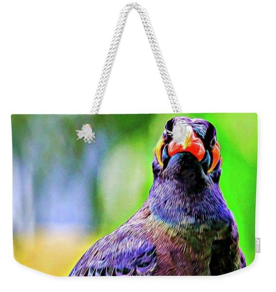Rainbow Hill Mynah Weekender Tote Bag