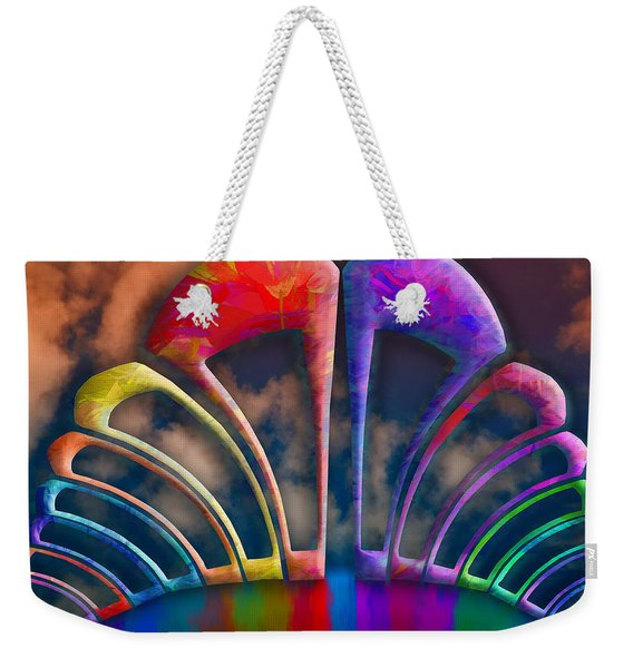 Rainbow Hill Weekender Tote Bag