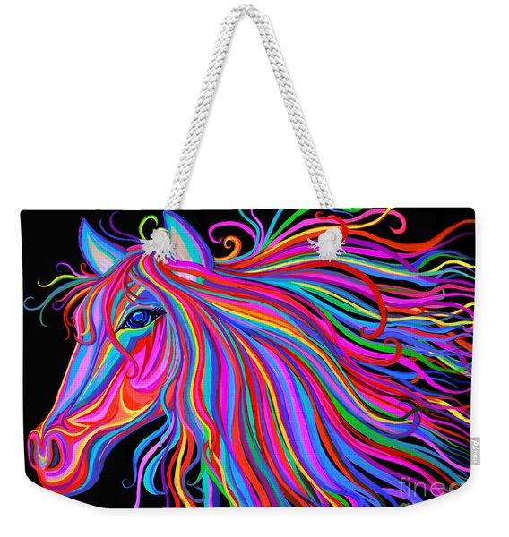 Rainbow Horse  Weekender Tote Bag