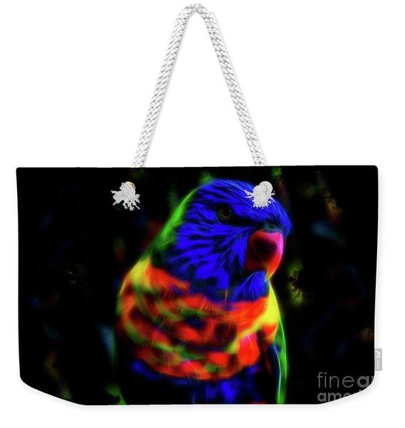 Rainbow Lorikeet - Fractal Weekender Tote Bag