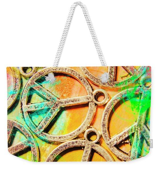 Rainbow Love Weekender Tote Bag