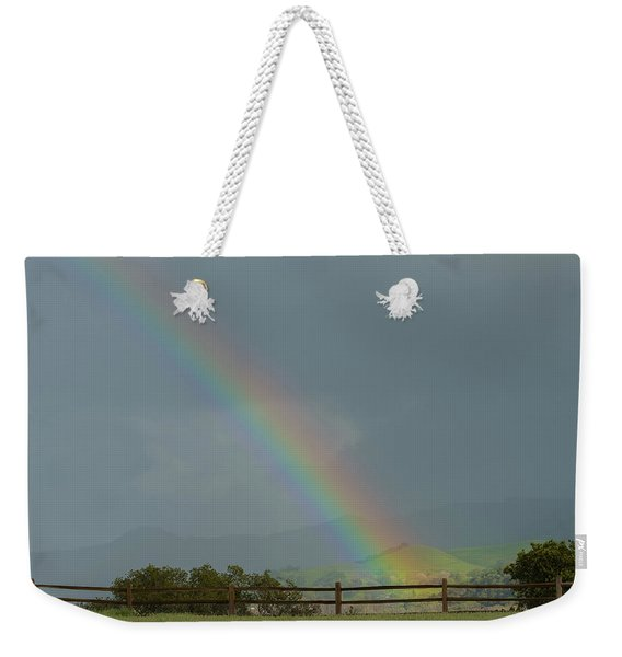 Rainbow On Valhalla Dr. Weekender Tote Bag