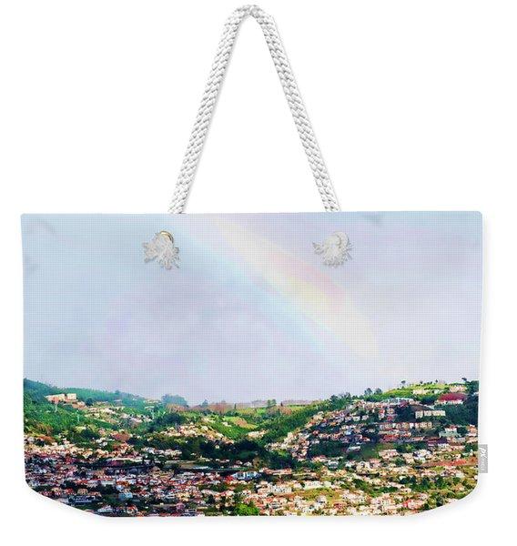Rainbow Over Funchal Weekender Tote Bag