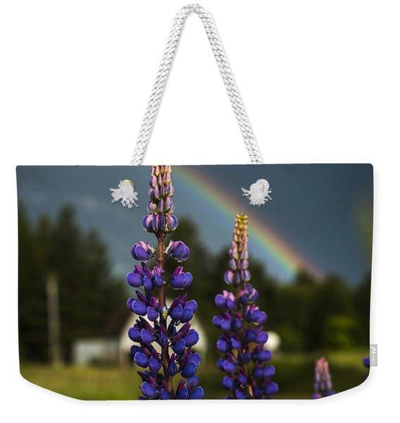 Rainbow Over Lupine  Weekender Tote Bag