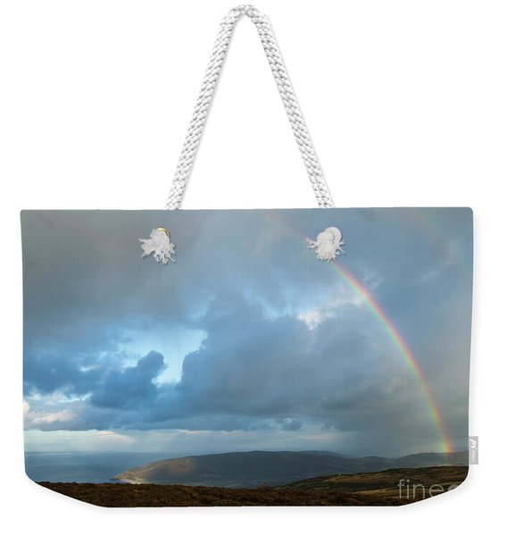 Rainbow Over Porlock Hill Weekender Tote Bag
