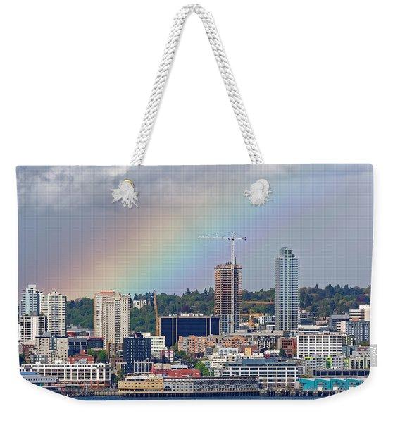 Rainbow Over Seattle Weekender Tote Bag