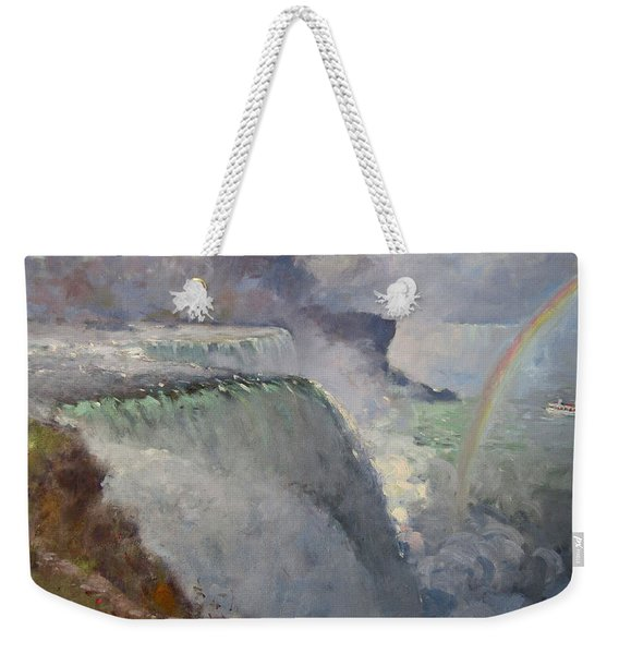Rainbow Over The Falls Weekender Tote Bag