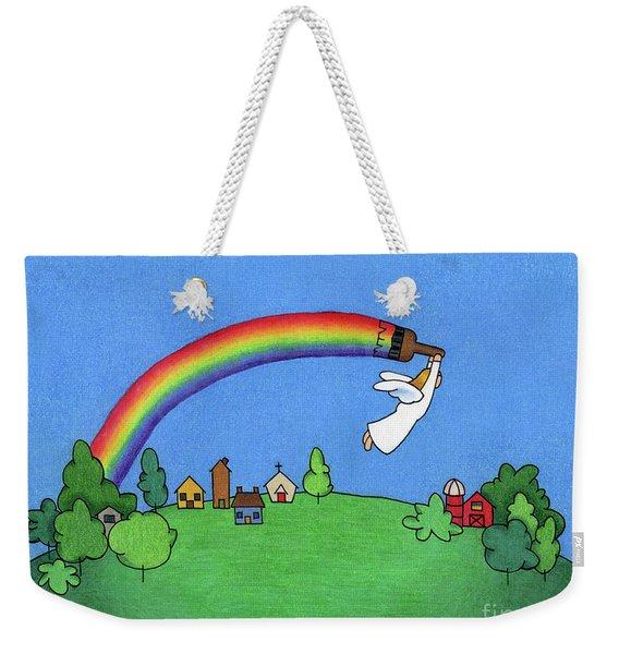 Rainbow Painter Weekender Tote Bag