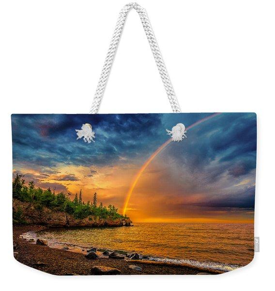 Rainbow Point Weekender Tote Bag