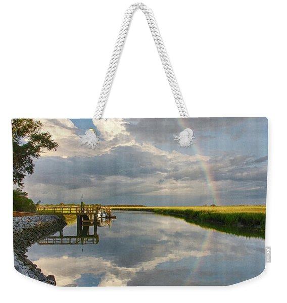 Rainbow Reflection Weekender Tote Bag