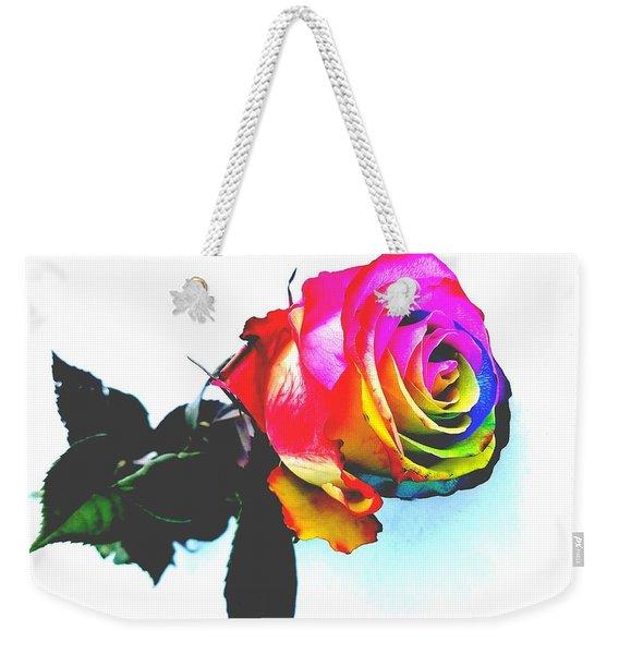Rainbow Rose 2 Weekender Tote Bag
