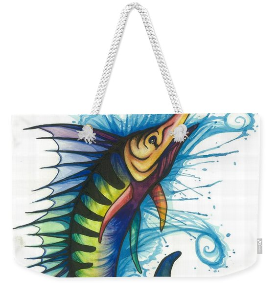 Rainbow Sailfish Weekender Tote Bag
