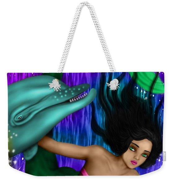 Rainbow Sea Mermaid - Fantasy Art Weekender Tote Bag