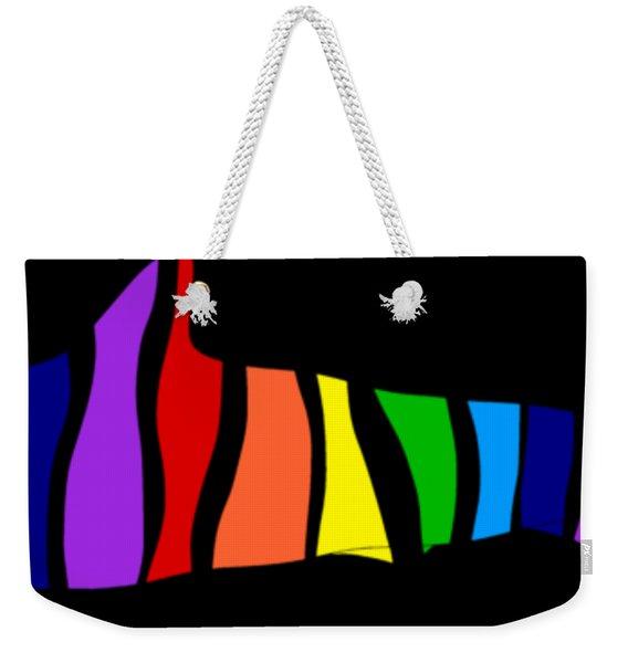 Rainbow Shark Weekender Tote Bag