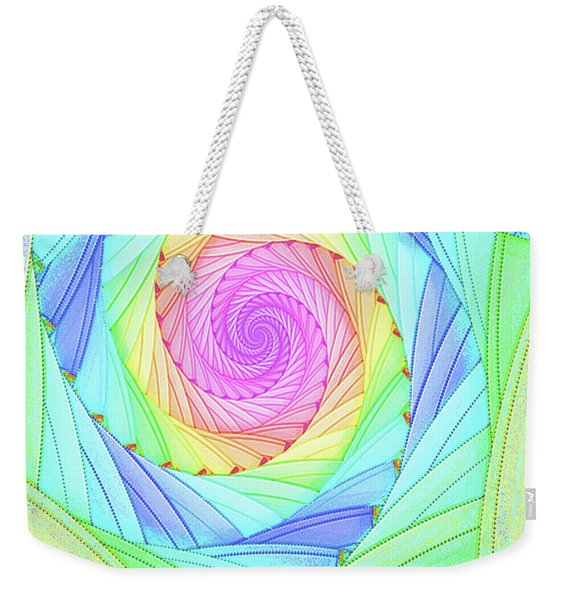 Rainbow Spiral Weekender Tote Bag