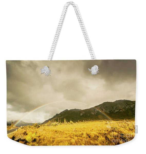 Raindrops In Rainbows Weekender Tote Bag