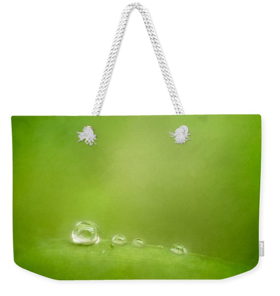 Raindrops On Green Weekender Tote Bag