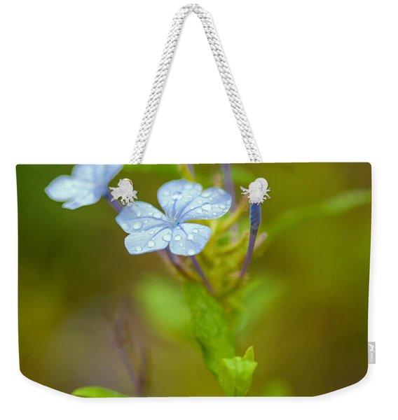 Raindrops On Petals Weekender Tote Bag