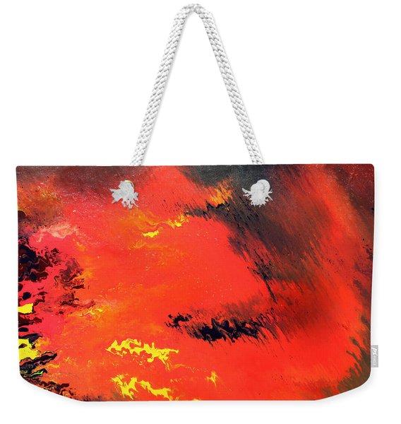 Raining Fire Weekender Tote Bag