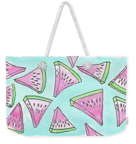 Raining Watermelons Weekender Tote Bag