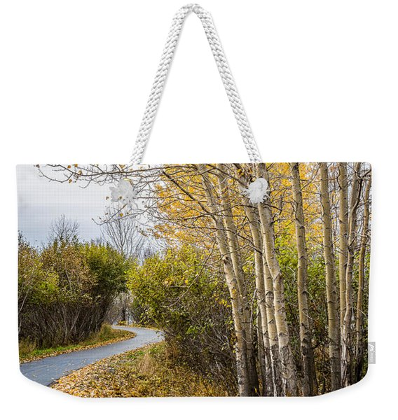 Weekender Tote Bag featuring the photograph Rainy Autumn Walk by Tim Newton