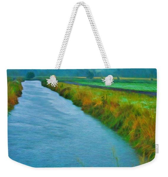 Rainy Canal Weekender Tote Bag