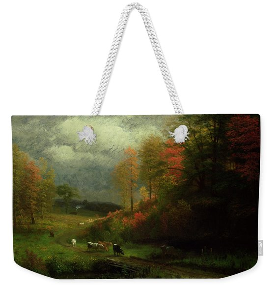 Rainy Day In Autumn Weekender Tote Bag