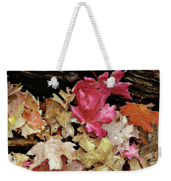 Rainy Day Leaves Weekender Tote Bag