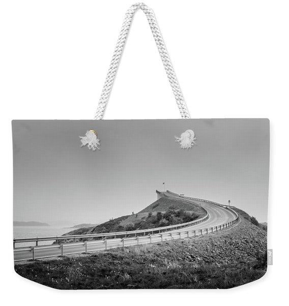 Weekender Tote Bag featuring the photograph Rainy Day On Atlantic Road by Dmytro Korol