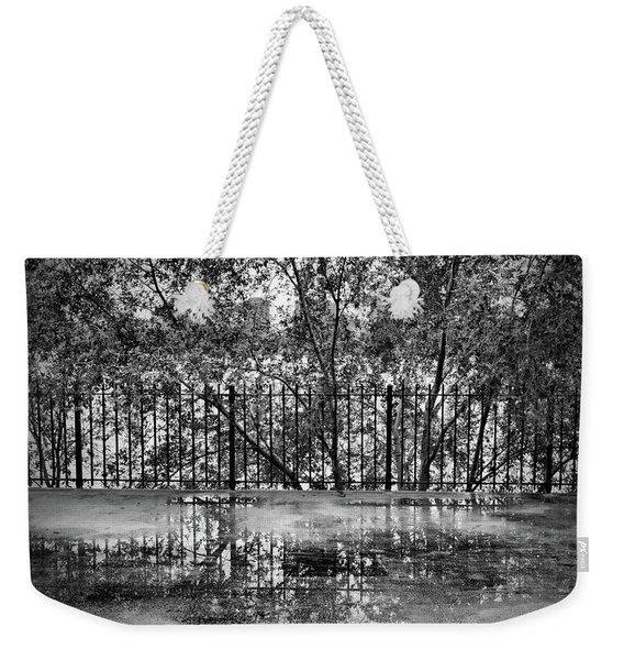 Rainy Day Walk Weekender Tote Bag