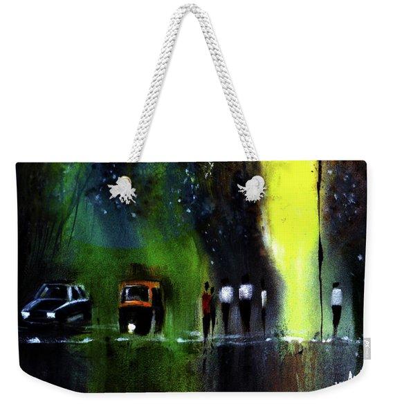 Rainy Evening Weekender Tote Bag