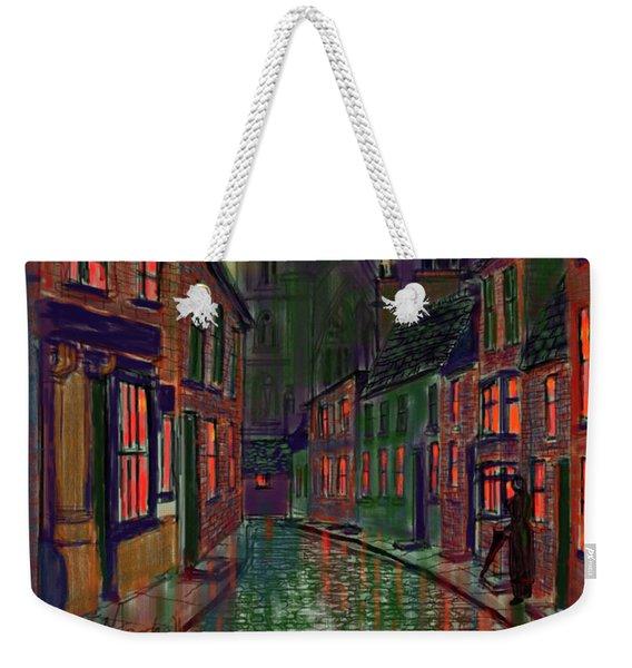 Rainy Night In Kirkgate Weekender Tote Bag