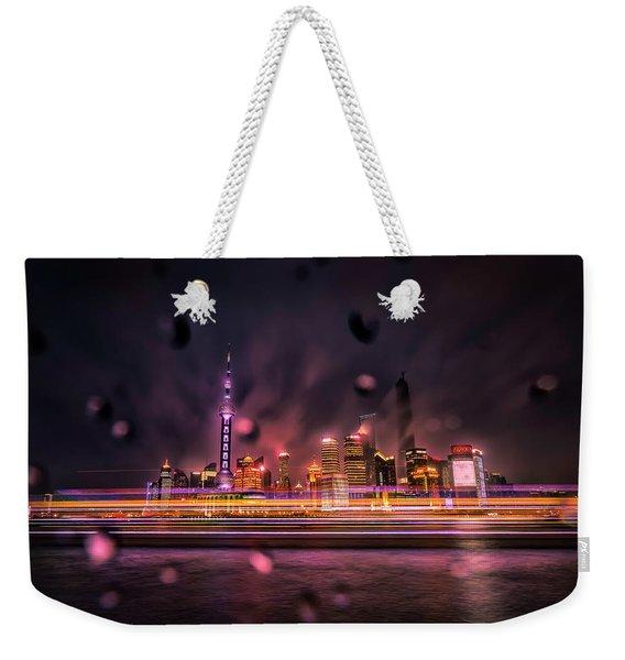 Rainy Night In Shanghai Weekender Tote Bag