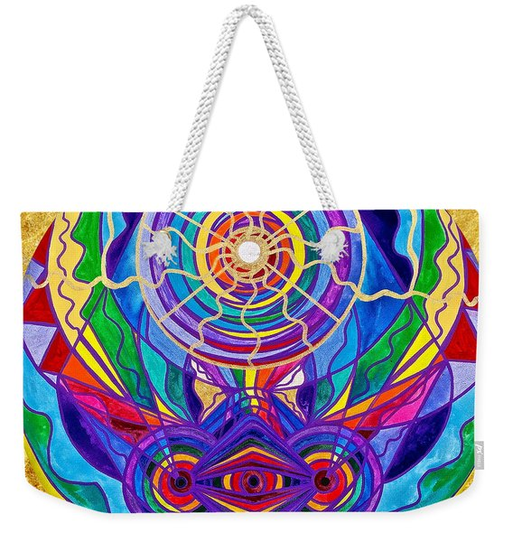 Raise Your Vibration Weekender Tote Bag