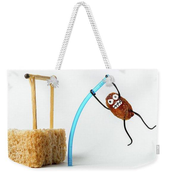 Raisin Pole Vault Weekender Tote Bag
