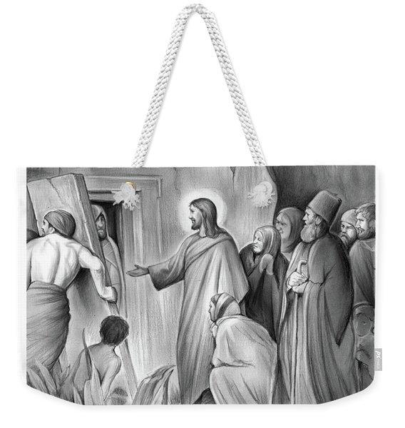 Raising Lazarus Weekender Tote Bag
