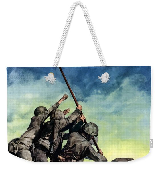 Raising The Flag On Iwo Jima Weekender Tote Bag
