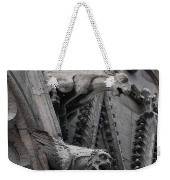 Ram And Eagle Griffon Notre Dame Weekender Tote Bag